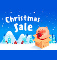 discount poster winter sale vector image vector image