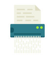 Document shredder flat icon destroy file