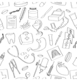 Doodle pattern Medical vector image vector image