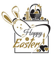 easter greetings happy easter typographic design vector image vector image