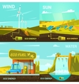 Ecological energy cartoon set vector image