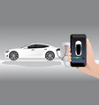 electric car charging point vector image vector image