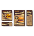 fast food retro poster vector image vector image