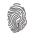 fingerprint human identification vector image