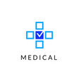 flat line medicine icon monochrome emblem logo vector image vector image