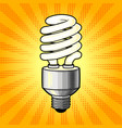 Fluorescent lamp comic book style vector image