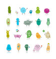 Funny and scary bacteria characters isolated