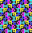 geometric seamless pattern in bright colors vector image vector image