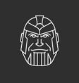 halloween mask hero mask vector image vector image