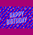 happy birthday greeting card banner poster vector image