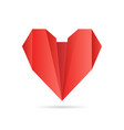heart made of paper in origami style for vector image vector image