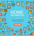 home decor signs round design template line icon vector image vector image