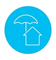 House under umbrella line icon vector image