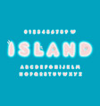 island abstract letters set with boats and vector image