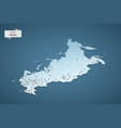 isometric 3d russia map concept vector image