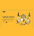 mind map visual thinking tool isometric landing vector image