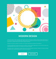 modern design blue page on vector image