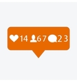 modern like follower comment icons vector image vector image