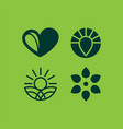 modern professional seed icons set in eco style vector image