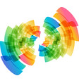multicolored abstract geometric circle vector image vector image