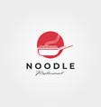 noodle and wok logo symbol design vector image vector image