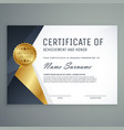 premium certificate of appreciation award design vector image vector image