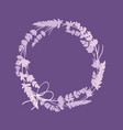 purple lavender flowers wreath decor arrangement vector image