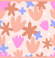 seamless floral pattern with abstract doodle vector image