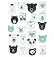 set of bears vector image vector image