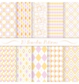 Set of ten seamless retro patterns vector image vector image