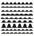 set seamless zigzag and wave borders design vector image vector image