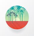 Smooth polygonal landscape design in circle vector image vector image