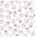 Stock seamless pattern with gift boxes vector image vector image