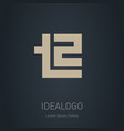 t2 - design element or icon initial monogram vector image vector image