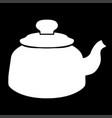 teapot white color icon vector image vector image
