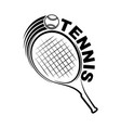 tennis outline silhouette with racket vector image vector image