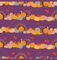 thanksgiving pumpkins cranberries turkey seameless vector image vector image