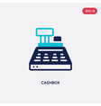 two color cashbox icon from business concept vector image