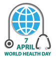 world health day concept with earth and vector image vector image