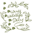 world wildlife day with background vector image vector image