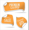 yellow tags collection vector image vector image