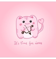 St Valentine Day card with cute pink cupid monster vector image