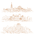 City sepia vector image