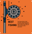 modern of the best fishing in vector image