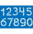 White point numbers vector image