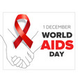 1 december worlds aids day vector image vector image