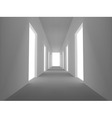 abstract emply hall with opened doors vector image vector image