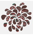 Abstract ornaments in drops vector image vector image