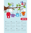 American calendar 2016 yearBaby boy fashion vector image