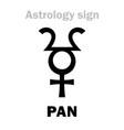 astrology planetoid pan vector image